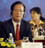 Bộ trưởng Kế hoạch đầu tư Việt Nam, ông Võ Hồng Phúc
