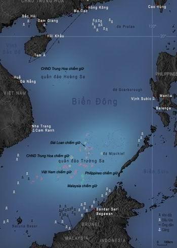 Quần đảo Trường Sa của Việt Nam đang bị nhiều nước chiếm giữ