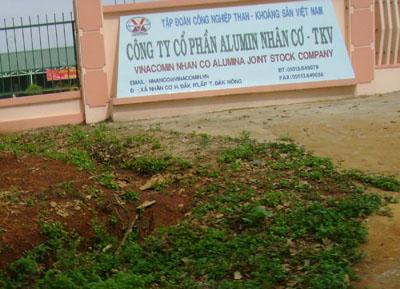 Cơ quan chỉ đạo khai thác bauxite tại Đắk Nông