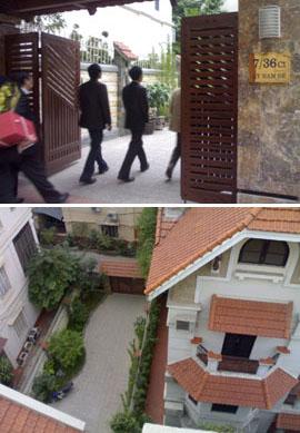 Hội đồng hương Thanh Hóa đến nhà ông Lê Khả Phiêu chúc Tết. Ngôi nhà 4 tầng mới xây nằm trong khu vực sang trọng của giới chức quyền