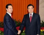 Ảnh hưởng của Trung Quốc ngày càng đè nặng lên các bước đi của Cộng sản Việt Nam - Nguyễn Tấn Dũng và Hồ Cẩm Đào.