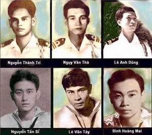 Một số tử sĩ VNCH trong trận hải chiến Hoàng Sa 1974 để bảo vệ lãnh thổ và lãnh hải Việt Nam