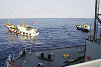 Tầu Trung cộng ngăn cản tầu Impeccable của Mỹ (hình AP)