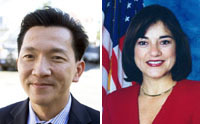 Dân biểu Joseph Cao &  Lorretta Sanchez